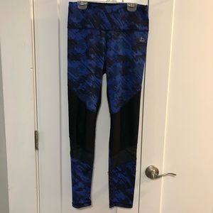 RBX Black + Blue Leggings Size M